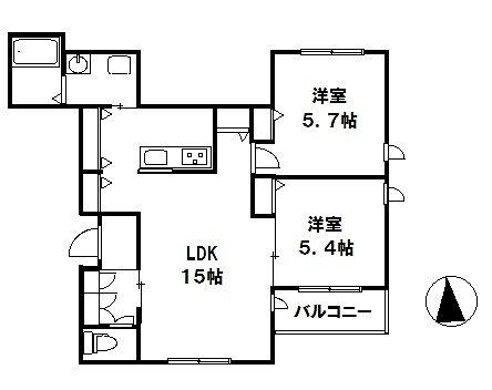 2019年新築 JR中央線国分寺駅徒歩7分 At Rest301号室間取図面