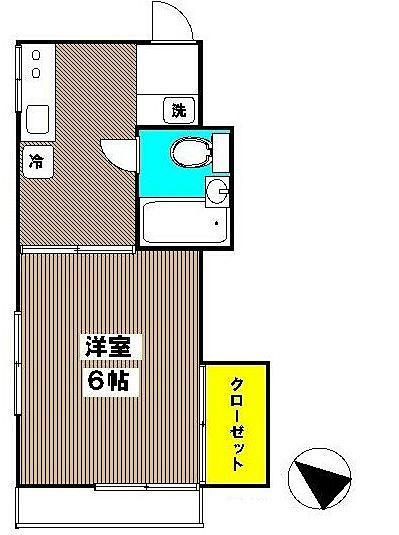 JR中央線国分寺駅徒歩8分 新規リフォーム浜田コーポ 102号室間取図面