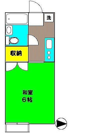 国分寺駅 徒歩7分 新規リフォーム予定 アロマット東元203号室の間取図