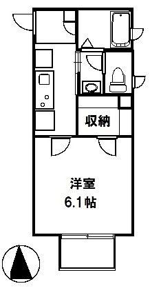 ヴィラ・リドゥ 102号室 間取図 平成29年1月築 築浅物件 ホーセイ土地 オススメ物件