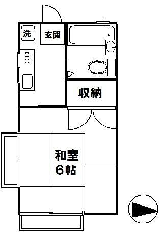 JR中央線 国分寺駅7分 アロマット東元 間取図