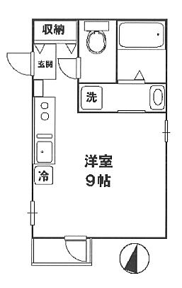 JR中央線国分寺駅 徒歩3分 2011年築のラ・メール・クレール201号室の間取り
