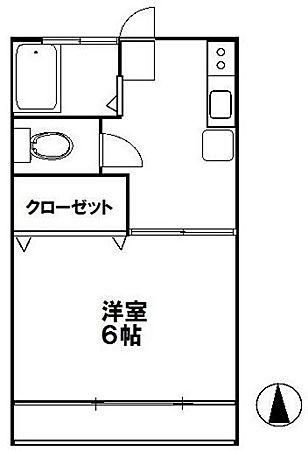 第5末広コーポ 106号室 間取り図面 JR中央線国分寺駅 8分